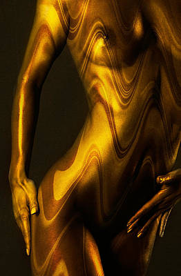 Abstract Nude Photograph - Shades Of Caramel by Naman Imagery