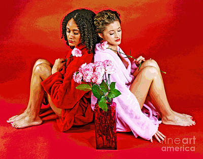 Photograph - Shades Of Carnations by Larry Oskin