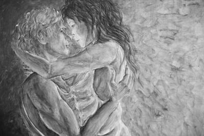 Painting - Shades Of Gray Ultimate Romance by Nik Helbig