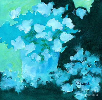 Painting - Shades Of Green And Light by Kathy Braud