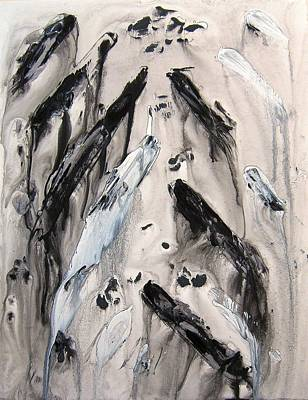 Shades Of Grey 10 Art Print