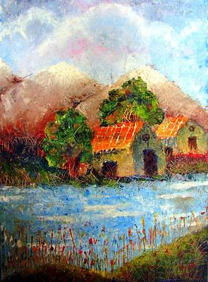 Painting - Shades Of Indian Village by Tanya Anurag
