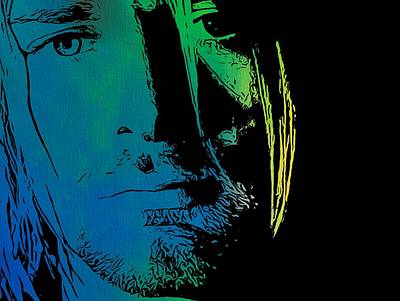 Kurt Cobain Digital Art - Shades Of Kurt Cobain by Dan Sproul