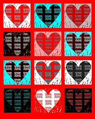 Digital Art - Shades Of Love by Helena Tiainen