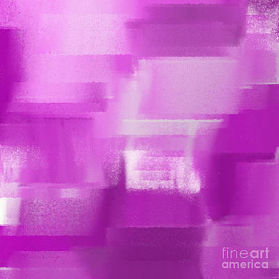 Digital Art - Shades Of Radiant Orchid Abstract Square by Andee Design