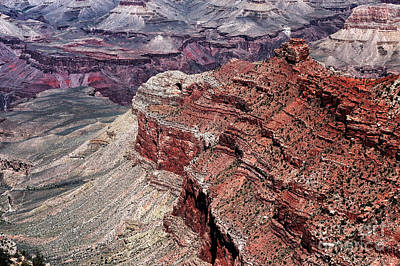 Shades Of Red In The Canyon Art Print by John Rizzuto