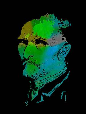 Self-portrait Digital Art - Shades Of Van Gogh by Dan Sproul