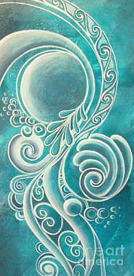 Maori Painting - Shades Of White 2 by Reina Cottier