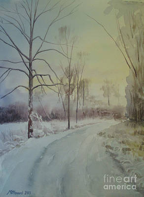 Frosty Weather Painting - Shades Of White by Martin Howard