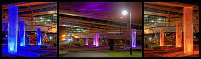 Photograph - Shades Under The Zakim - Triptych by Joann Vitali