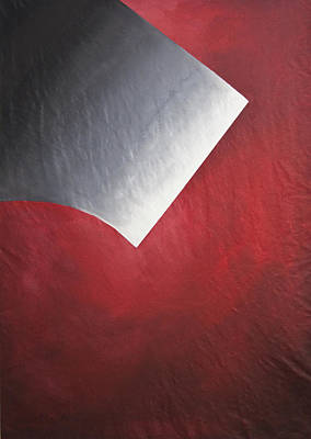 Shading  Of Life On Red  Original by Lilian Istrati