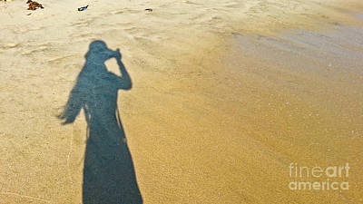 Photograph - Shadow And Sand Raw by Fei A