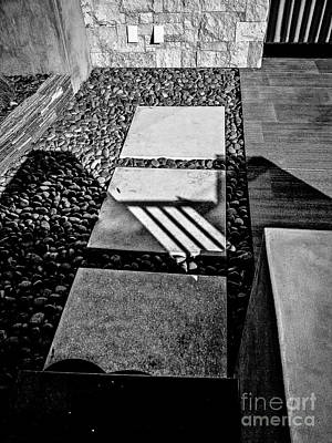 Photograph - Shadow And Shapes No. 33 B W by Fei Alexander