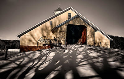 Photograph - Shadow Barn by Fred LeBlanc