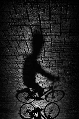 Bikes Photograph - Shadow Bike... by Antonio Grambone