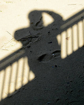 Photograph - Shadow In The Sand by Bob Slitzan