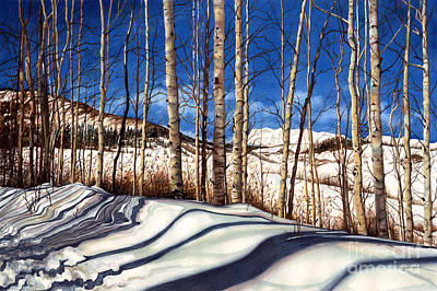 Winter Scenes Painting - Shadow Dance by Barbara Jewell