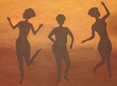 Woman Painting - Shadow Dancers by Kolene Parliman