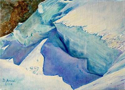 Chamonix Painting - Shadow by Danielle Arnal