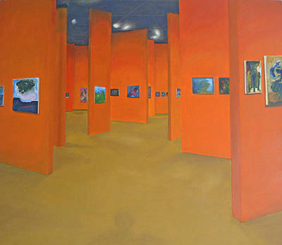 Painting - Shadow In The Gallery by Dennis Goodbee