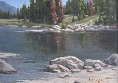 Painting - Shadow Lake  by Mar Evers