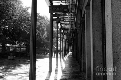 Photograph - Shadow Lines On Jackson Square Mono by John Rizzuto