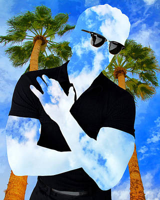 Photograph - Shadow Man Palm Springs by William Dey
