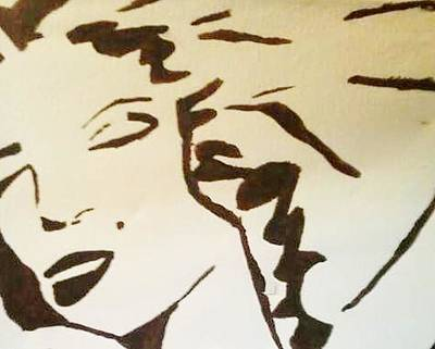 Marylin Painting - Shadow Monroe by Krystyn Lyon