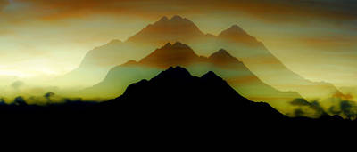 Duplicate Photograph - Shadow Mountain by Ron Day