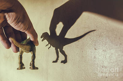 Dinosaur Photograph - Shadow Of A Dinosaur Toy by Tuimages