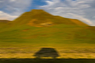 Bus Photograph - Shadow Of Bus, South Coast, Iceland by Panoramic Images