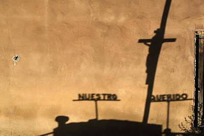 Shadow Of Christ On The Cross Sierra Vista Cemetery Taos New Mexico Original by John Hanou