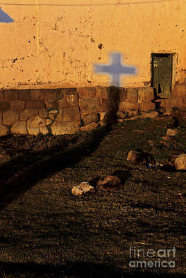 Photograph - Shadow Of Cross Peru by Ryan Fox