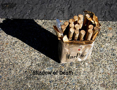 Art Print featuring the photograph Shadow Of Death by Marie Neder