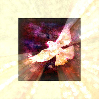 Digital Art - Shadow Of His Wings II by Christine Nichols
