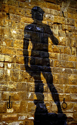 Michaelangelos David Photograph - Shadow Of Michaelangelo's David by Jenny Setchell