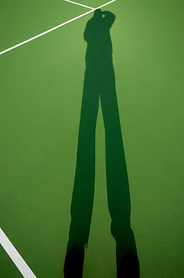 Photograph - Shadow On The Tennis Court by Gary Slawsky