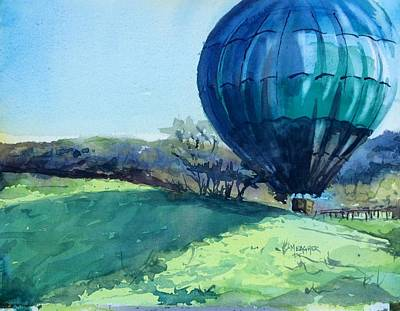 Winery Painting - Shadow Over The Hill by Spencer Meagher