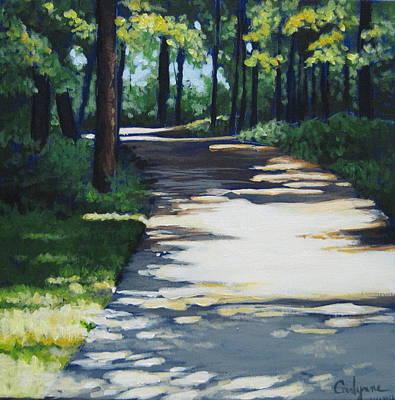 Shadow Path Art Print by Carlynne Hershberger