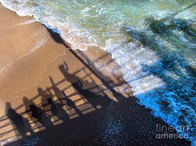 Redondo Beach Pier Wall Art - Photograph - Shadows Day At The Beach by Jennie Breeze