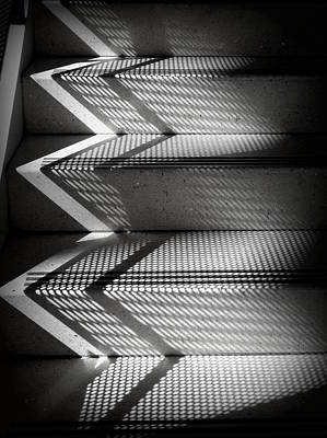 Photograph - Shadow Play - Black And White by Joseph Skompski