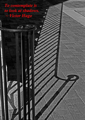 Shadow Railing Art Print by Andy Lawless