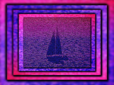 Digital Art - Shadow Sail by Tim Allen