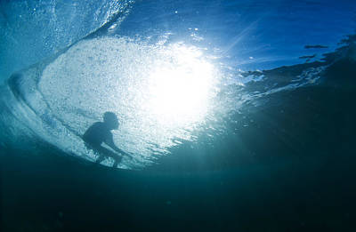 Surfing Photograph - Shadow Surfer by Sean Davey