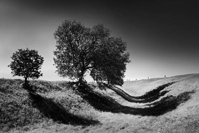 Trench Photograph - Shadow Time by Julian Cook