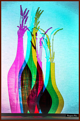 Digital Art - Shadow Vases by Georgianne Giese