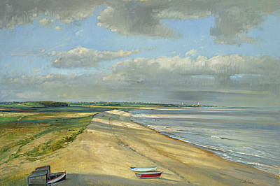 Shadowed Crescent, Dunwich Oil On Canvas Art Print by Timothy Easton