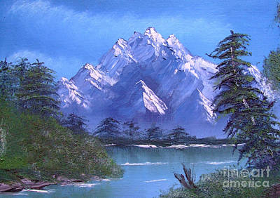 Shadowed Mountain Lake Art Print