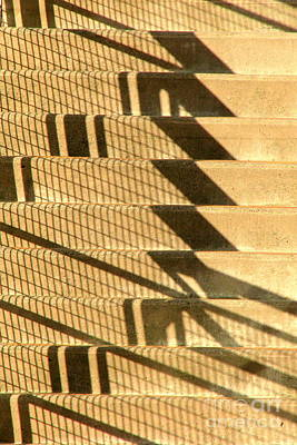 Photograph - Shadowed Steps by Frank Townsley