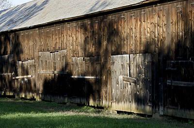 Shadowed Tobacco Barn In Rural Connecticut Print by Brendan Reals